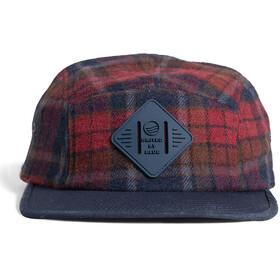 United By Blue Flannel 5-Panel Hat, blå/brun
